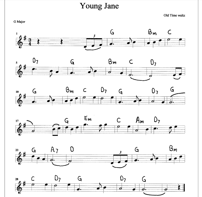 Oh Oh Jane Jane New Version Song Download: Tunebook With Sheet Music And MP3 Audio